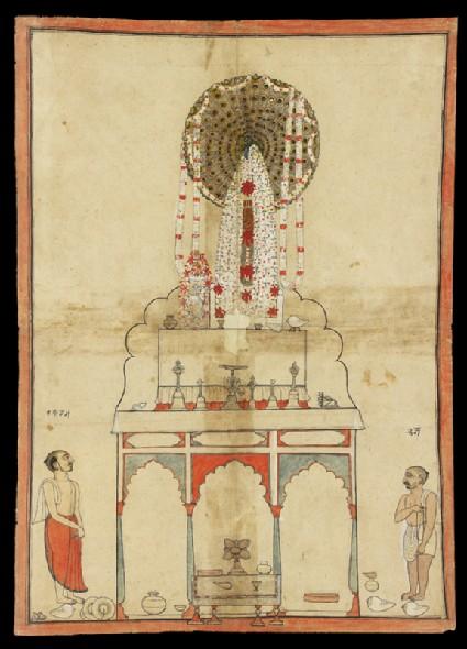 A Krishna shrinefront