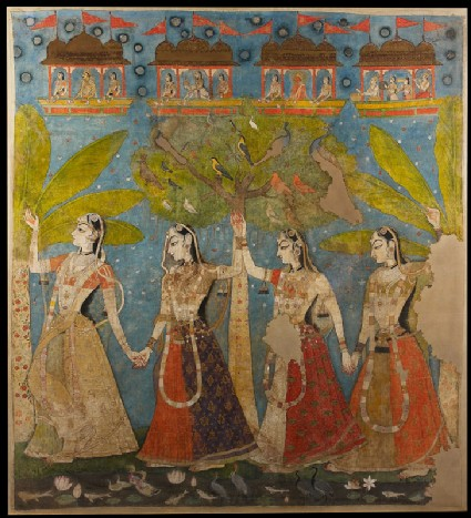 The gopis dance in the forest, or Sarat Purnimafront