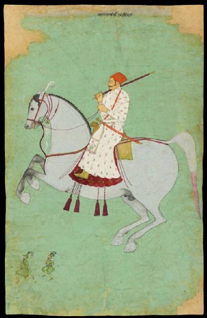 Maharaja Dhiraj Singh ridingfront