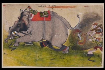 Enraged elephantfront