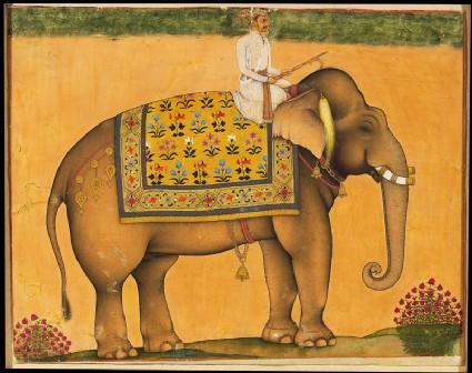 Elephant and riderfront