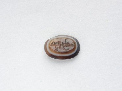 Oval bezel seal with kufic inscriptionfront
