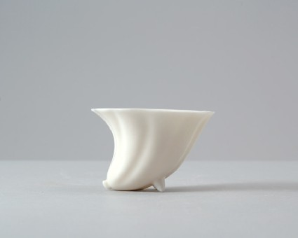 Dehua ware cup in the form of a flowerfront