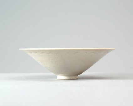 White ware bowl with floral decorationfront