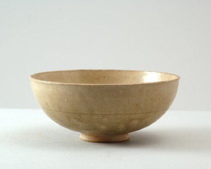 Greenware bowl with flowerfront
