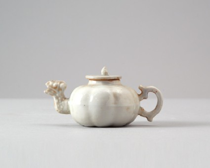 White ware ewer with spout in the form of a dragonfront