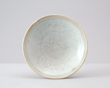 White ware dish with pomegranates and childrenfront