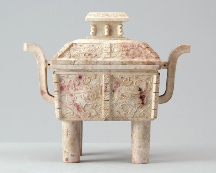 Vessel in the form of a fang ding, or ritual food vesselfront