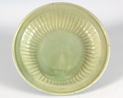 Dish with green glazefront