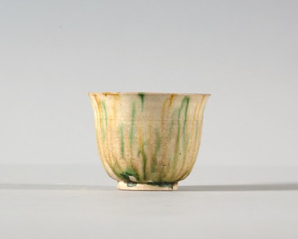 Cup with three colour glazefront