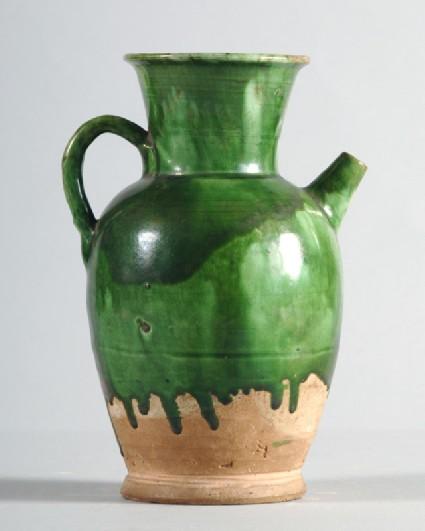 Ewer with green glazefront
