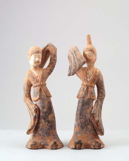 Figure of a dancing lady with raised armfront