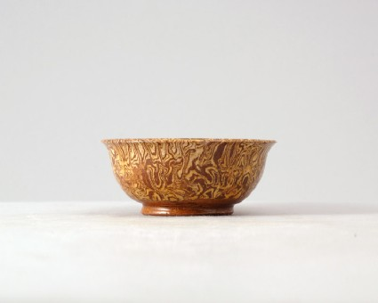 Bowl with marbled decorationfront