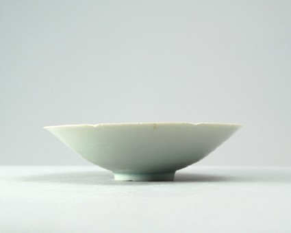 White ware bowl with carp among wavesfront