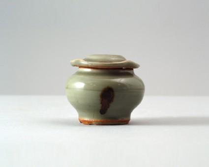 Greenware baluster jar and lidfront