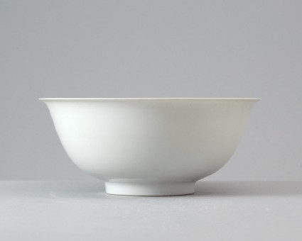 White ware bowl with dragonsfront