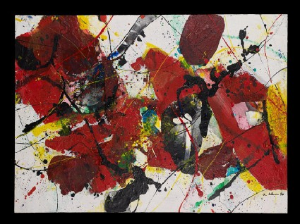 Red, yellow, and black abstractionfront