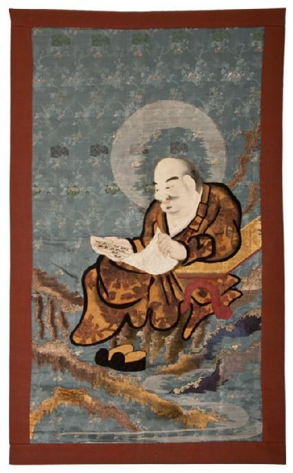 Kalika, a rakan (or disciple of Buddha), reading a handscrollfront, Cat. No. 8