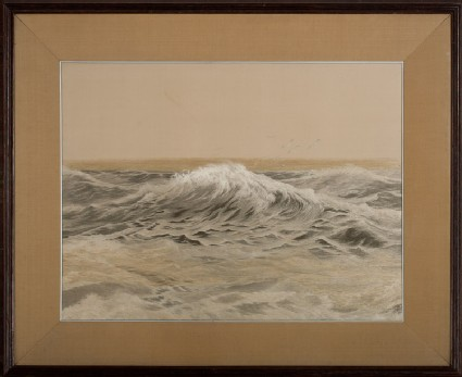 Stormy sea with seagullsfront, Cat. No. 35