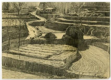 Terraced hillside in Hebeifront