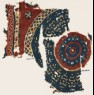 Textile fragment with a large circle (front)