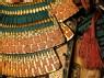 Ceremonial suit of armour for a samurai (detail, throat guard)